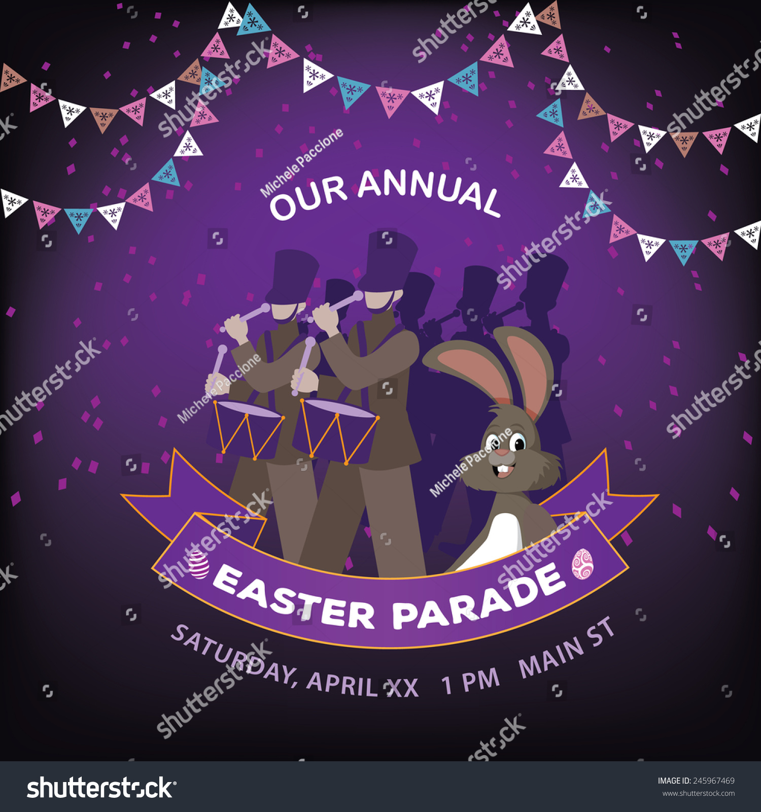 Easter Parade Background Eps 10 Vector Royalty Free Stock Illustration ...