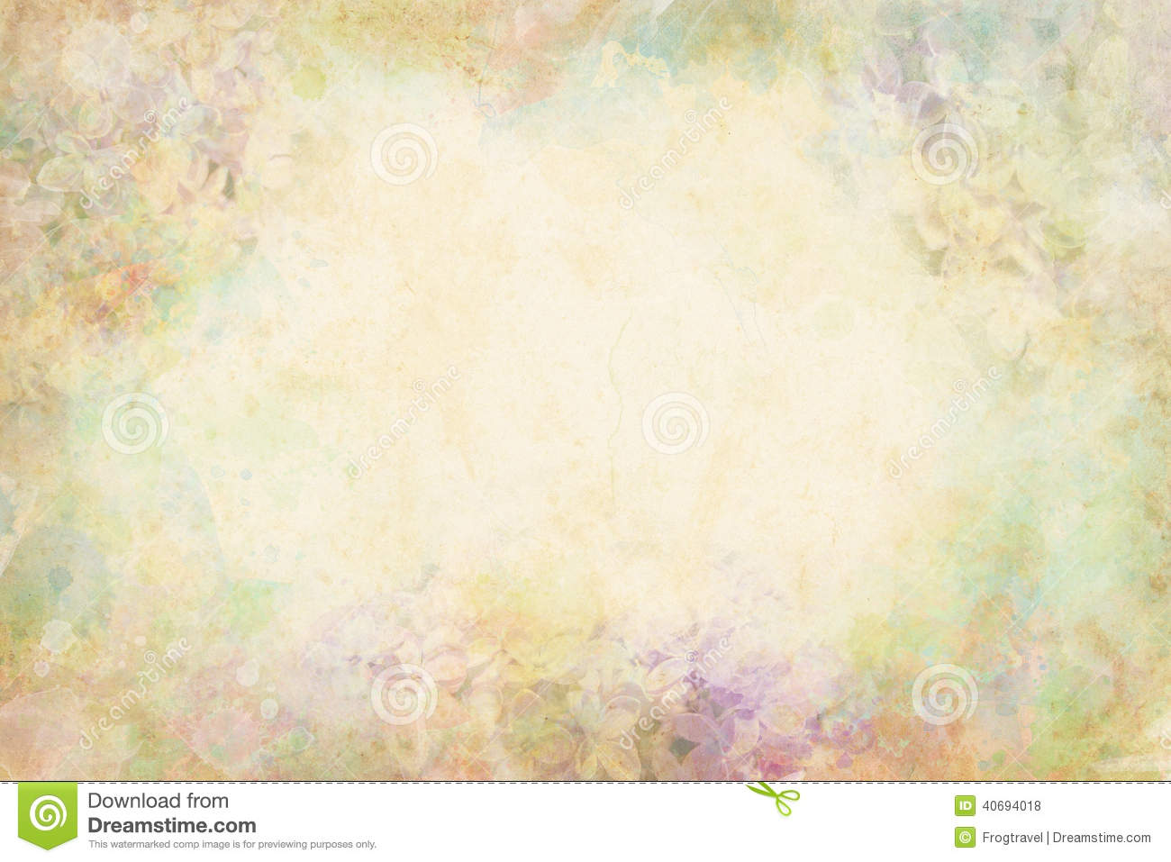 Watercolor Flowers Stock Illustration - Image: 40694018