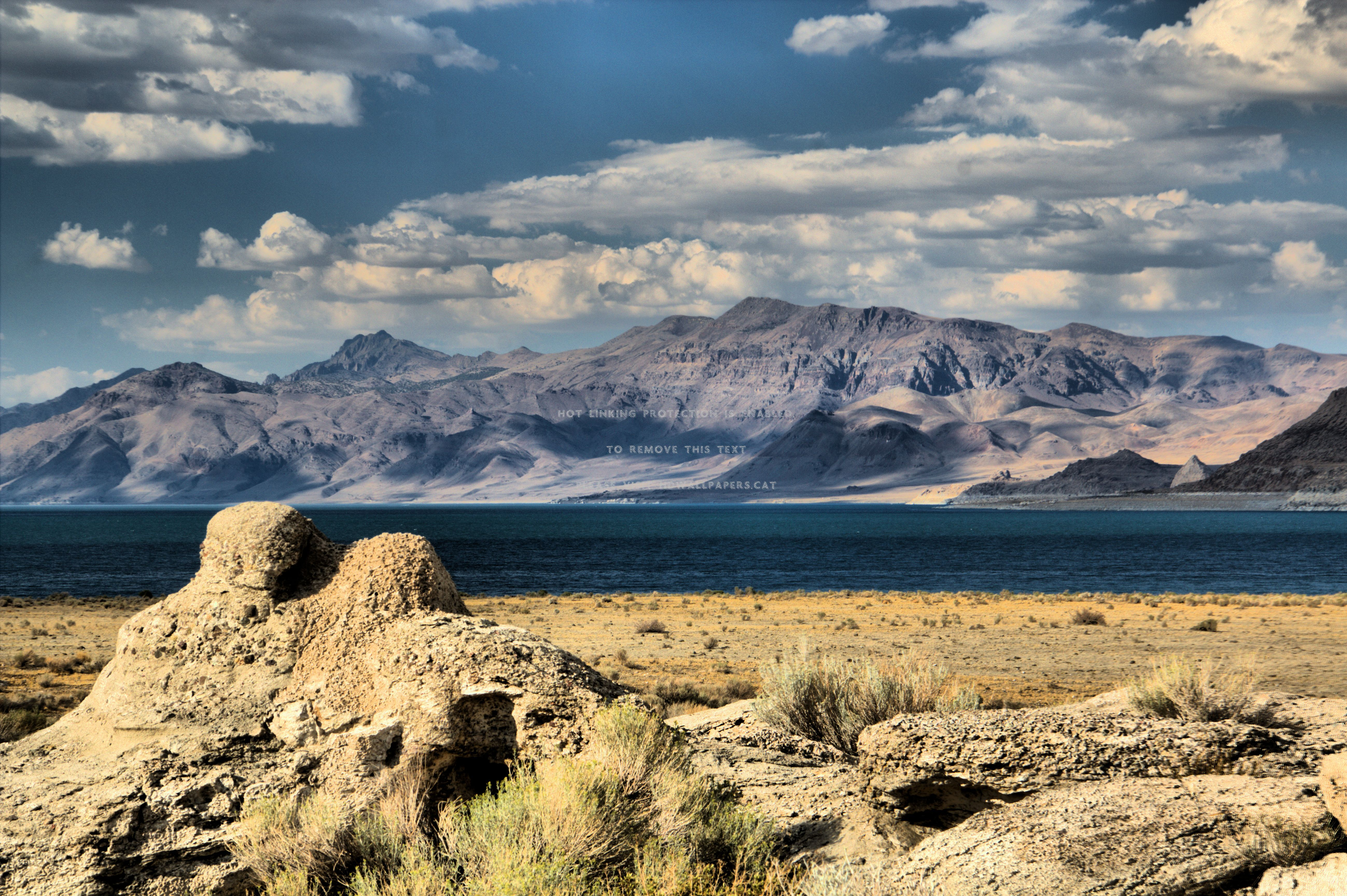 Pyramid lake landscape hdr magical northern:High Contrast