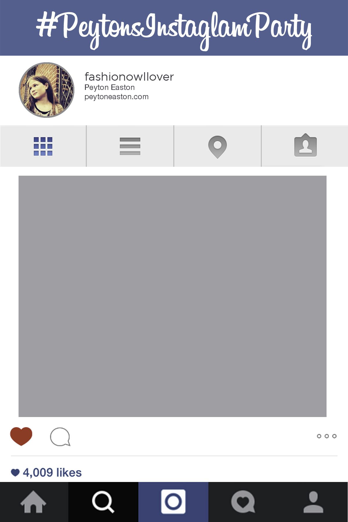 Instagram frame party template in Photoshop and PowerPoint #instagram ...