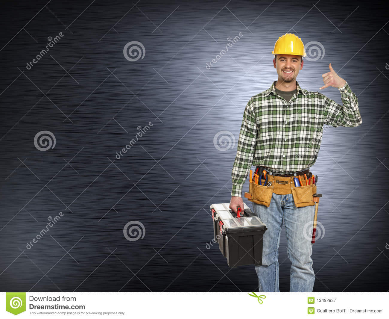 Handyman And Metal Background Royalty Free Stock Photography - Image ...