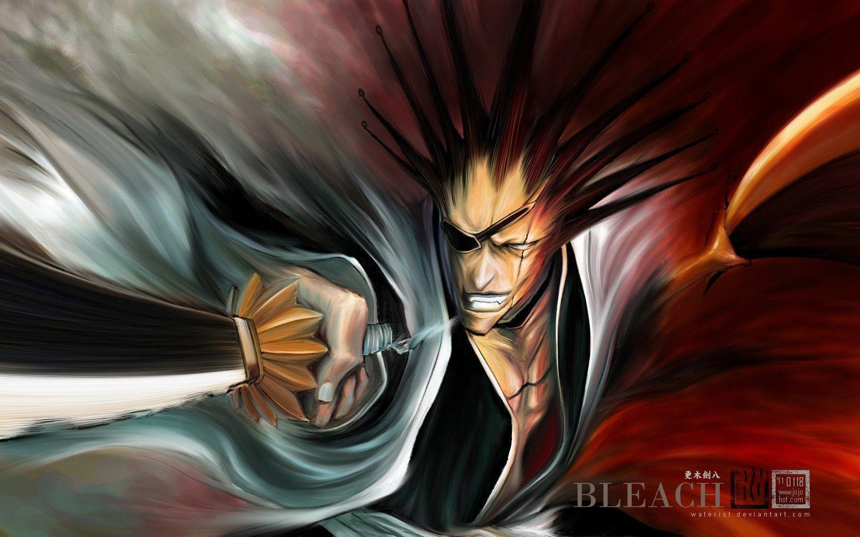 Images For > Bleach Kenpachi Wallpaper