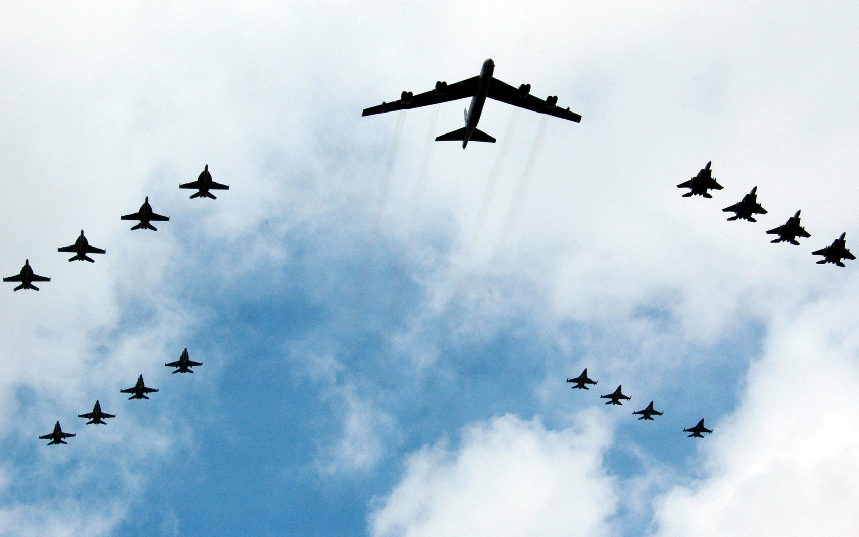 quality B-52 Stratofortress And Escort Military Airplanes Wallpaper ...