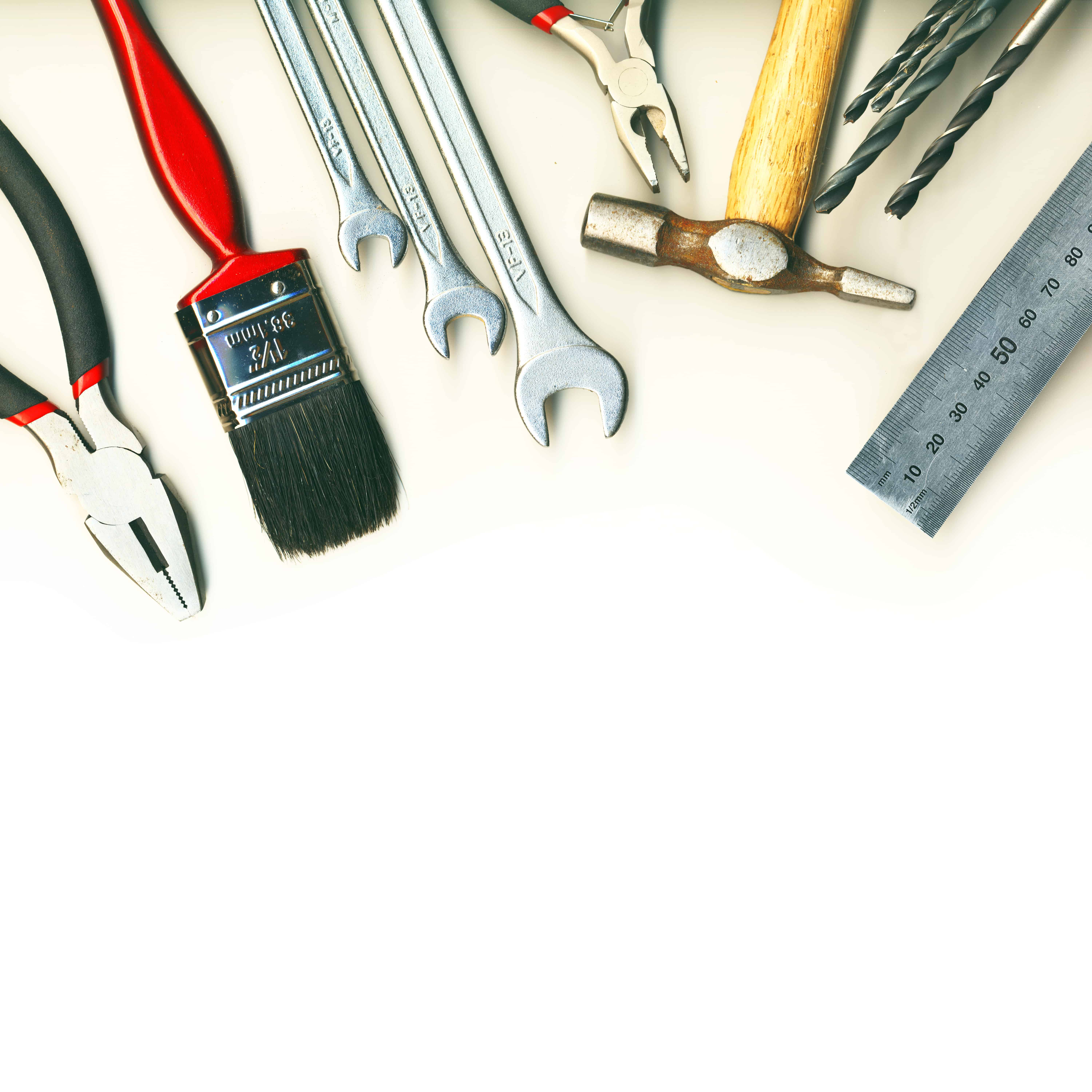 set of tools - isolated on white background - Margate, Ventnor ...