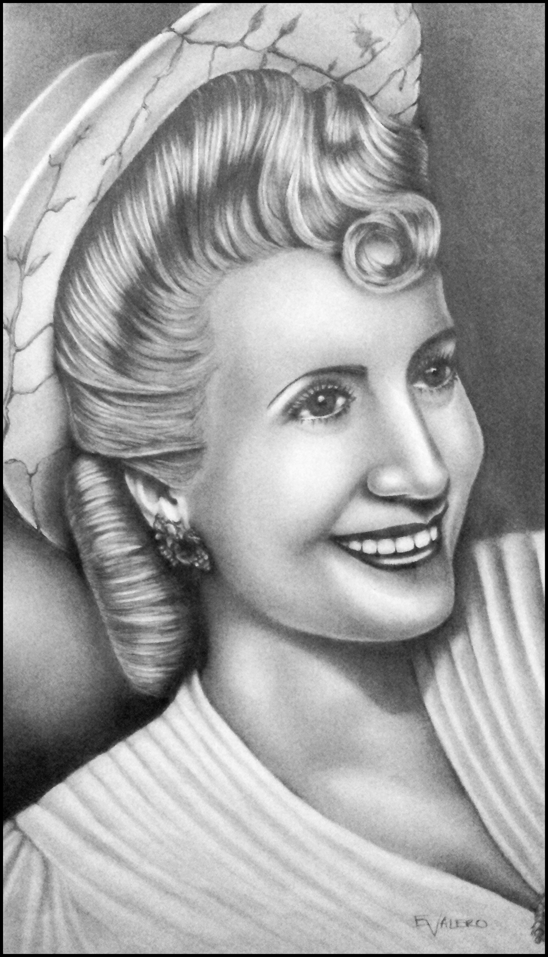 Eva Peron - Evita - Portrait - Pencil - Version 1 by EnzFab on ...
