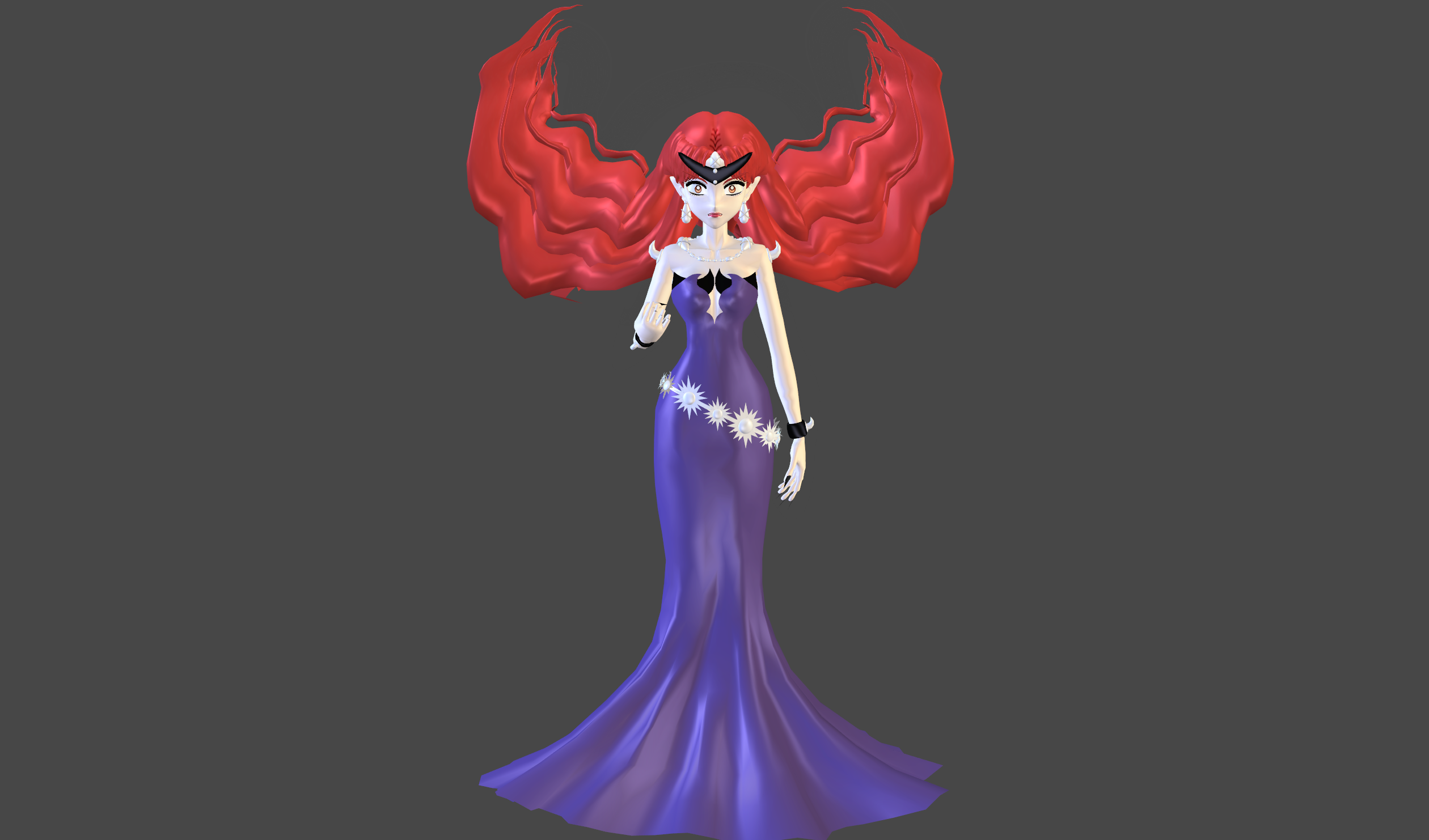 Queen Beryl Manga mesh mod by Lopieloo on DeviantArt