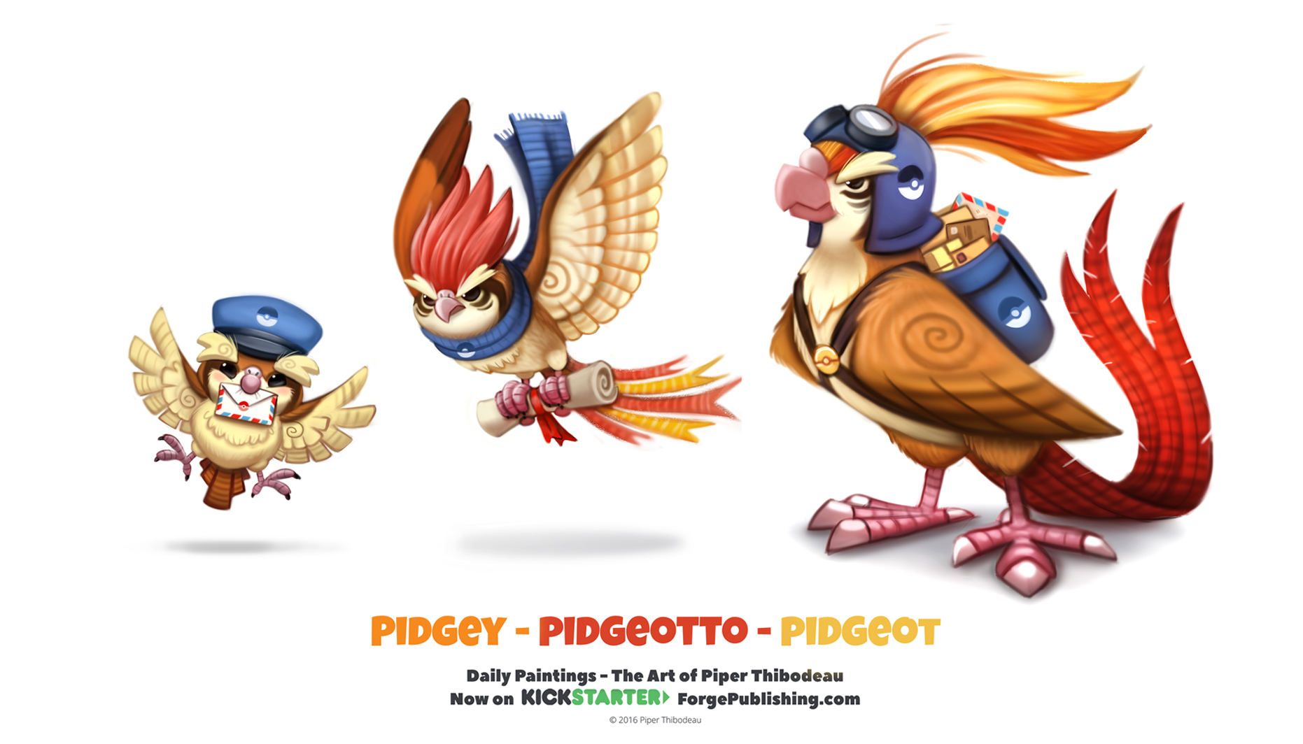 Pidgey - Pidgeotto - Pidgeot by Cryptid-Creations on DeviantArt