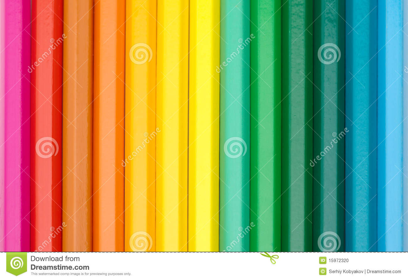 Color Crayons Background Stock Photo - Image: 15972320