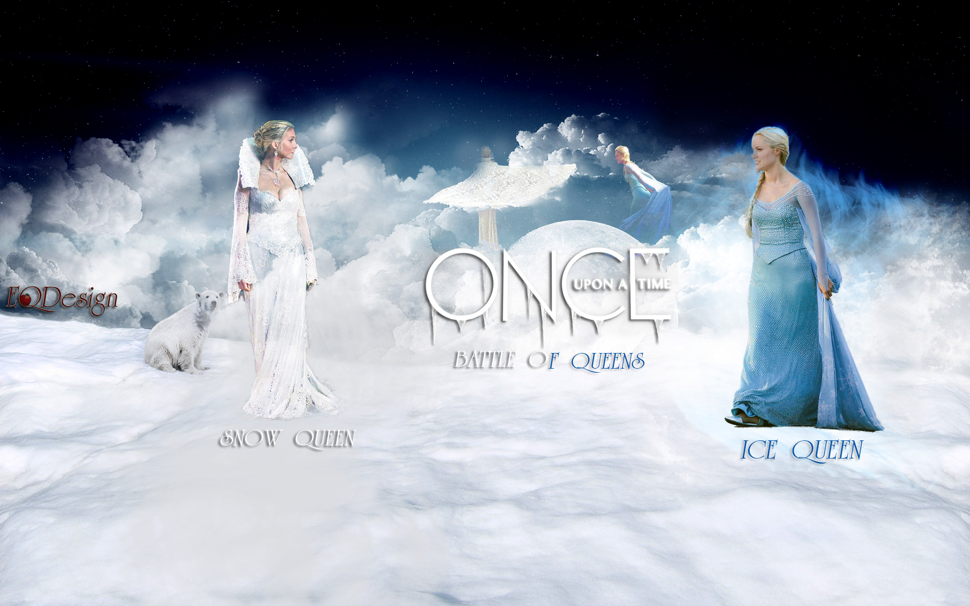 Snow Queen and Ice Queen - Once Upon a Time by eqdesign on DeviantArt