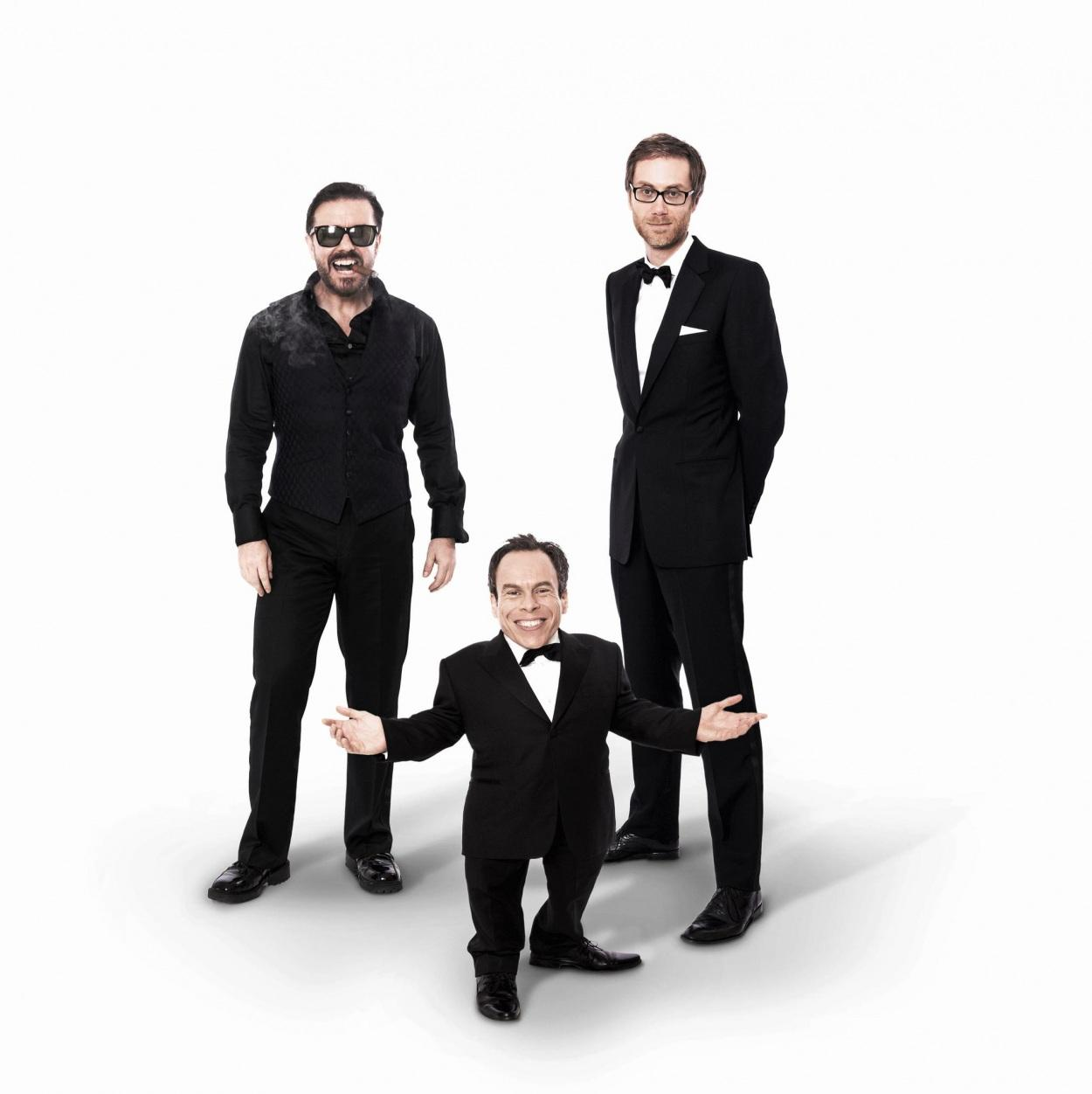 Photo: Picture Of Warwick Davis Ricky Gervais And Stephen Merchant In ...