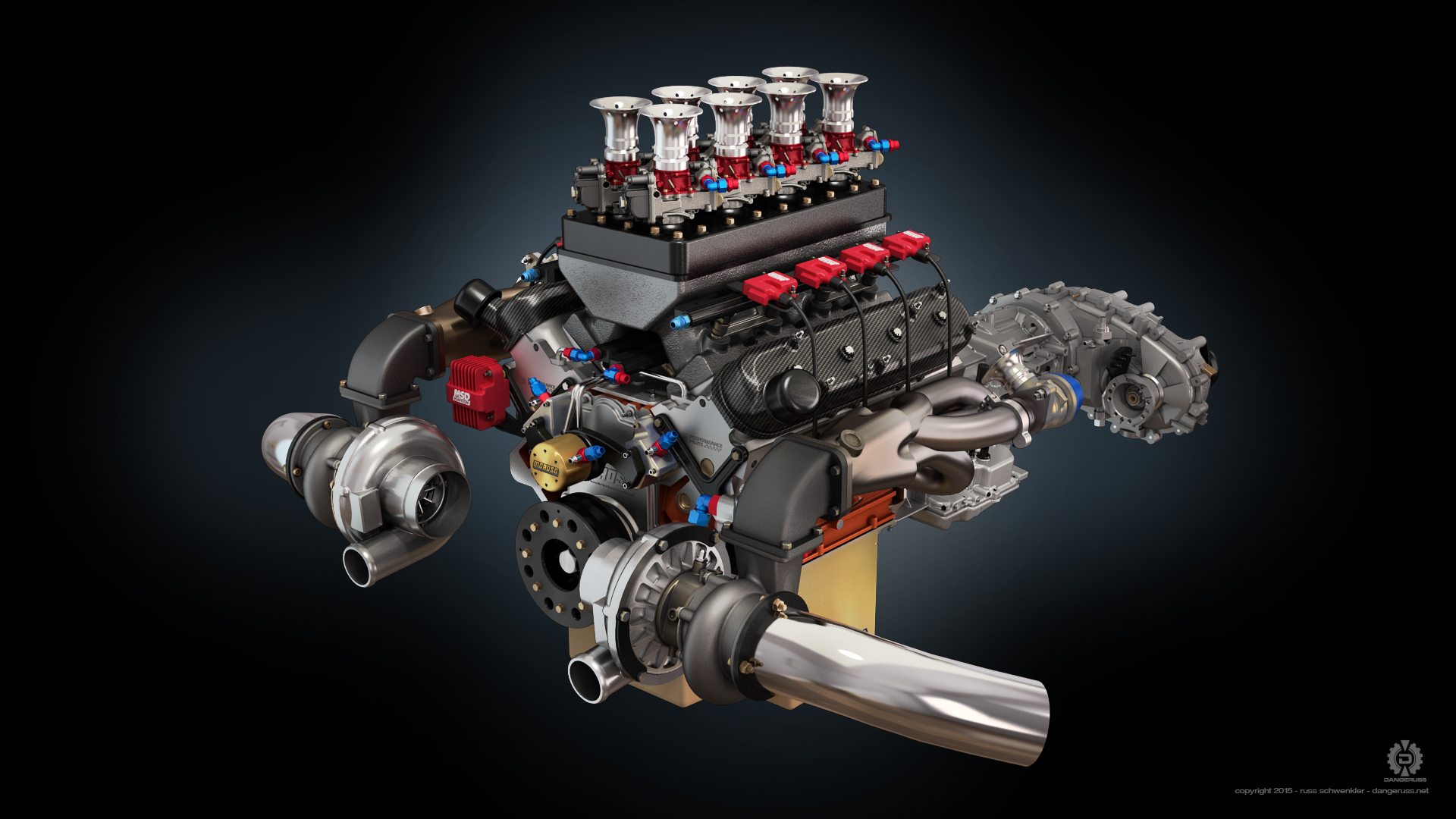 Twin Turbo Fuel Injected Chevrolet LS1 by dangeruss on DeviantArt