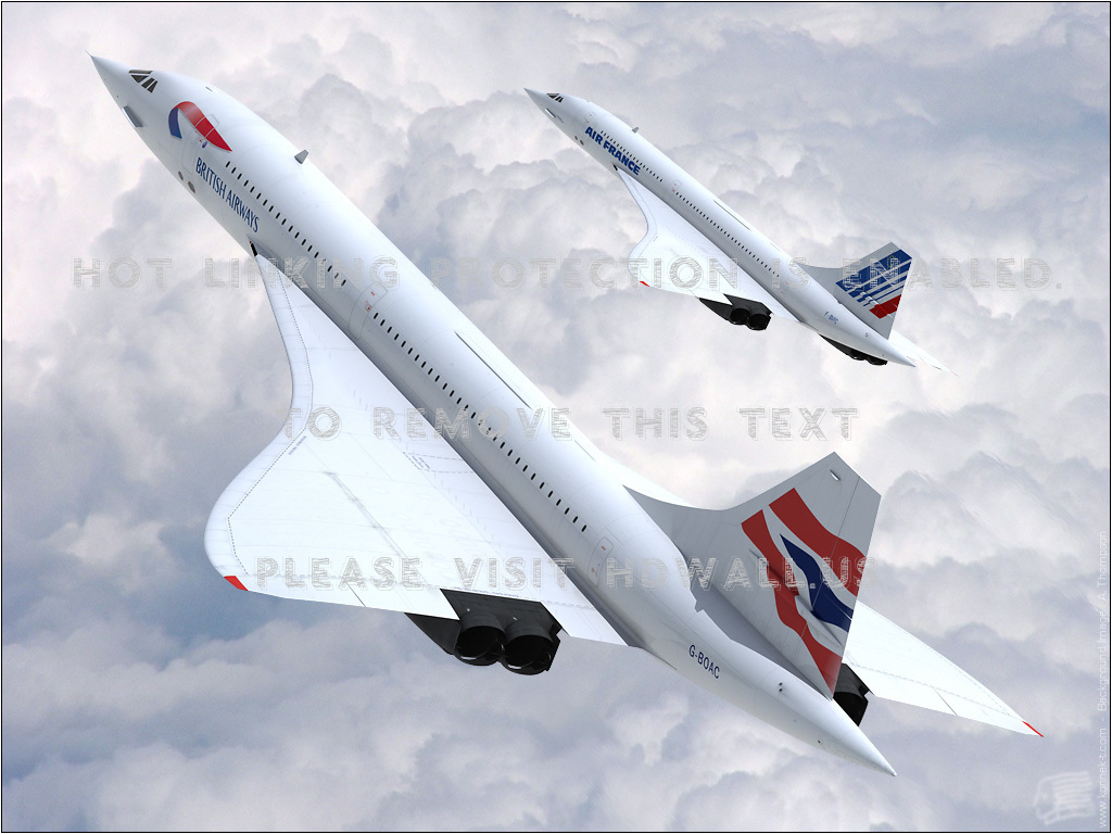 aircraft concorde british airways air france HQ Wide (16:10): 1280x800 ...