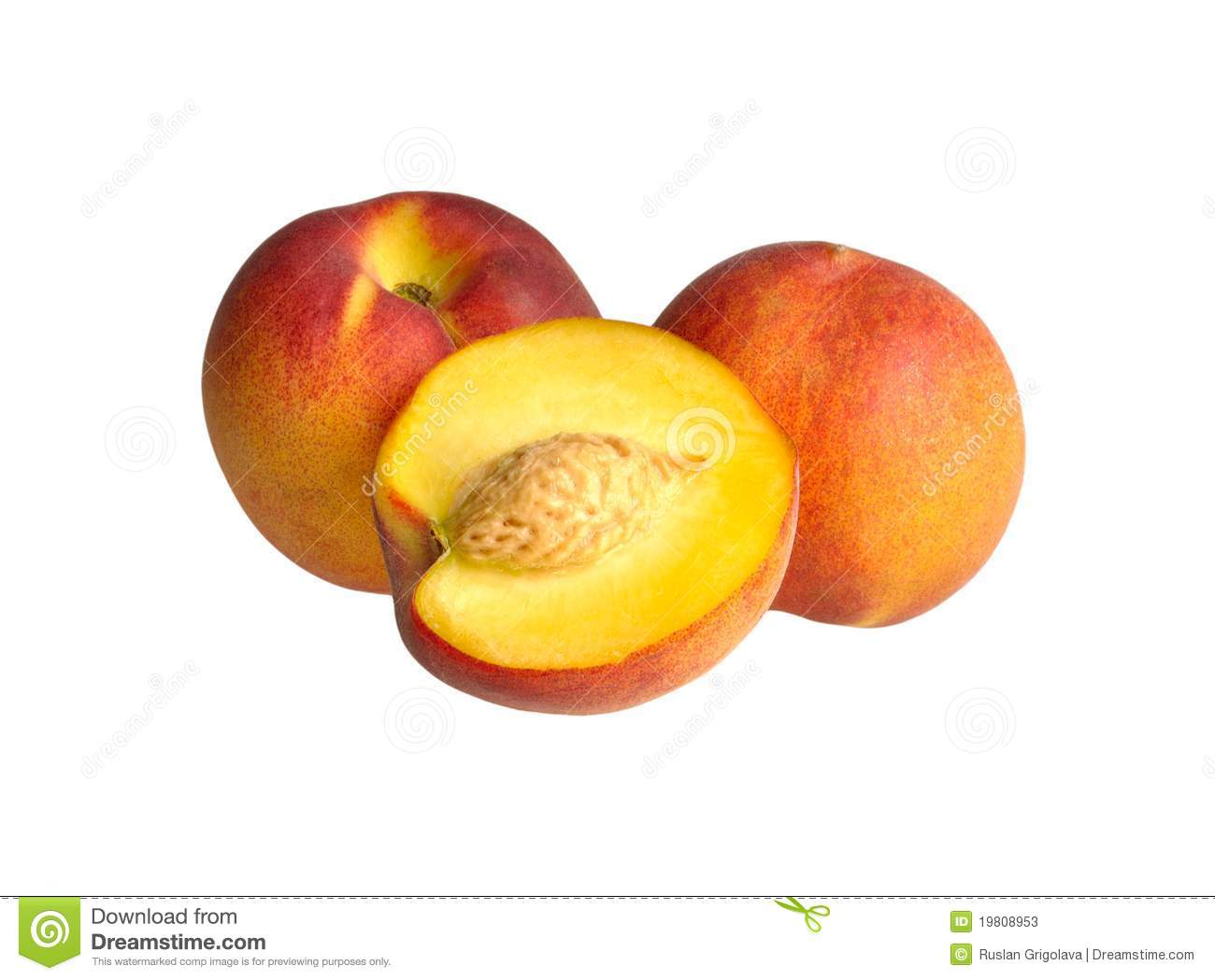 Two And A Half Peach Stock Photos - Image: 19808953