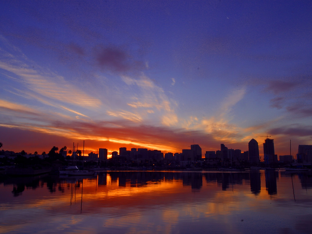 San Diego California Night backgrounds Wallpaper | High Quality ...