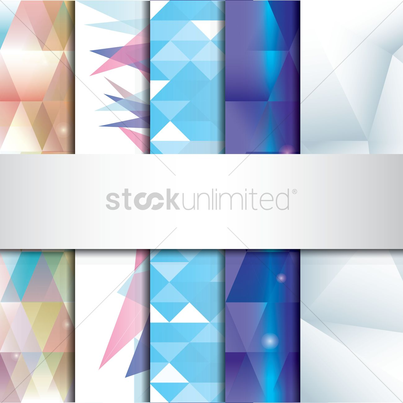 Set of faceted backgrounds Vector Image - 1582603 | StockUnlimited