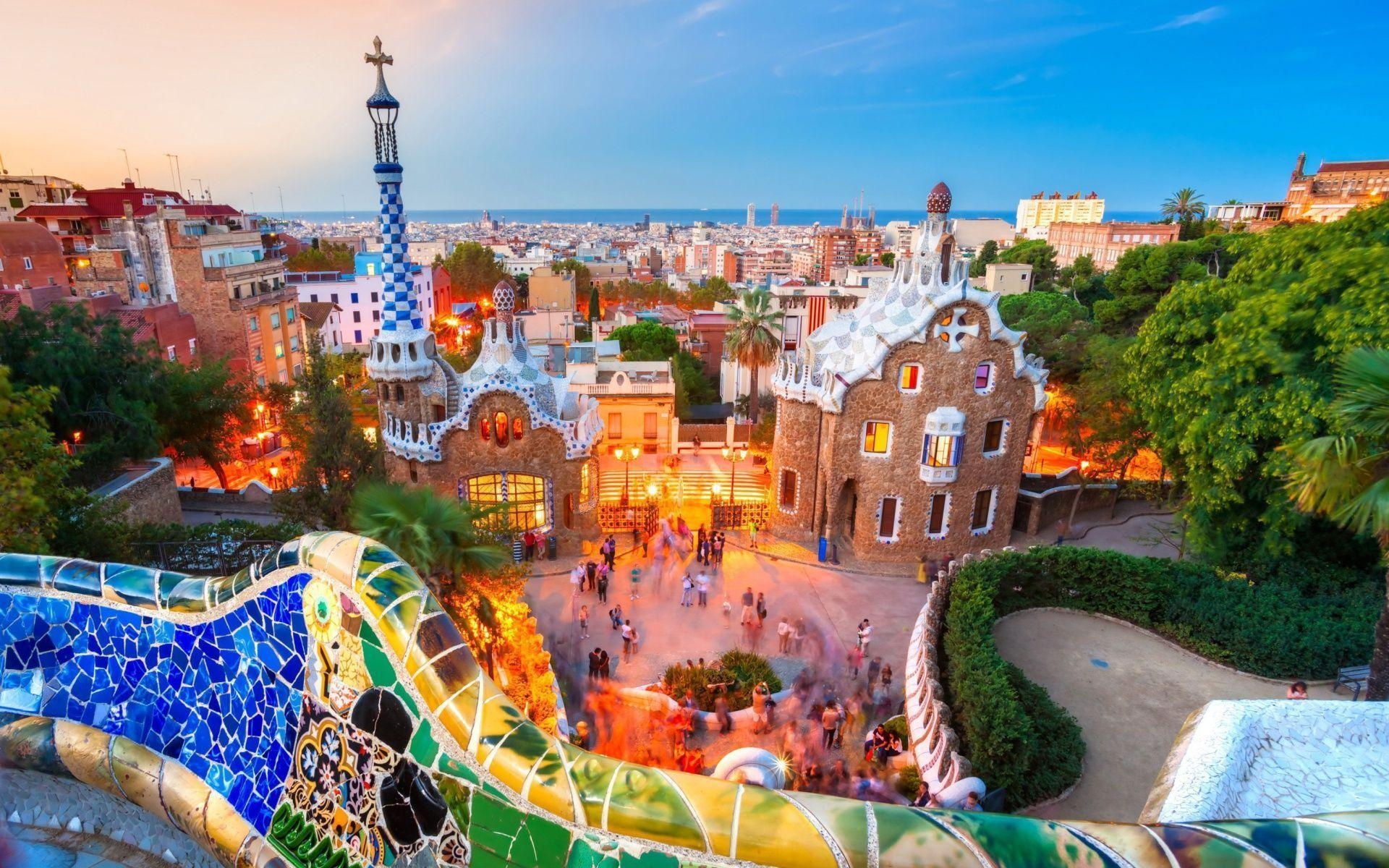 Park Guell in Barcelona (Spain) Wallpapers | HD Desktop Wallpapers