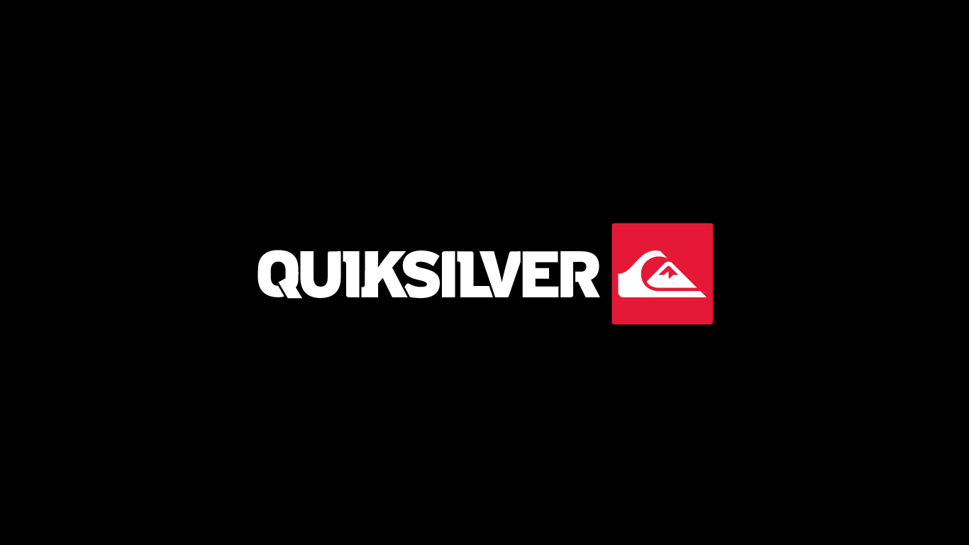 Quiksilver Logo on Black Wallpaper Wallpaper with 1366x768 Resolution