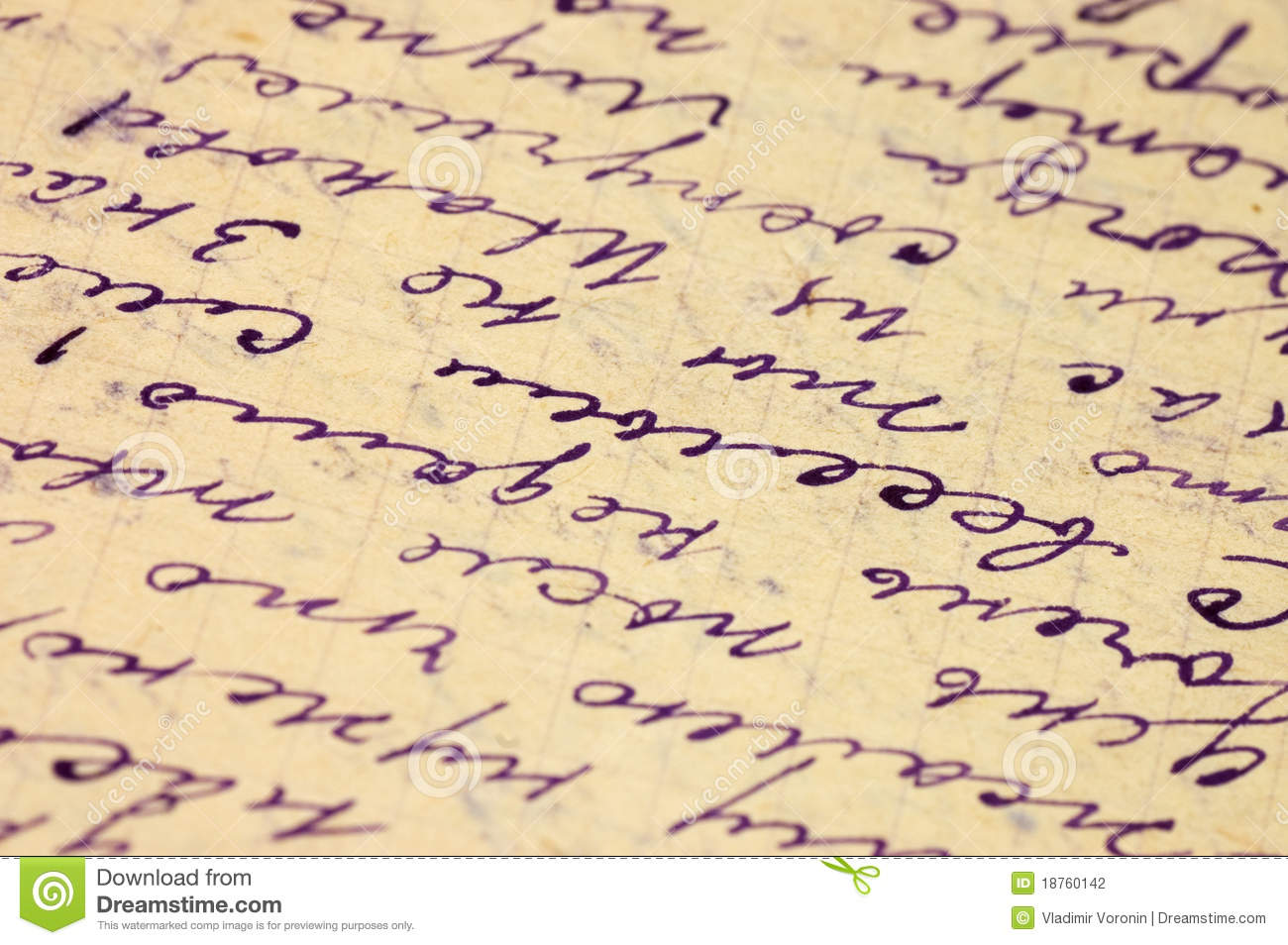 Old Letter As A Background Stock Photography - Image: 18760142