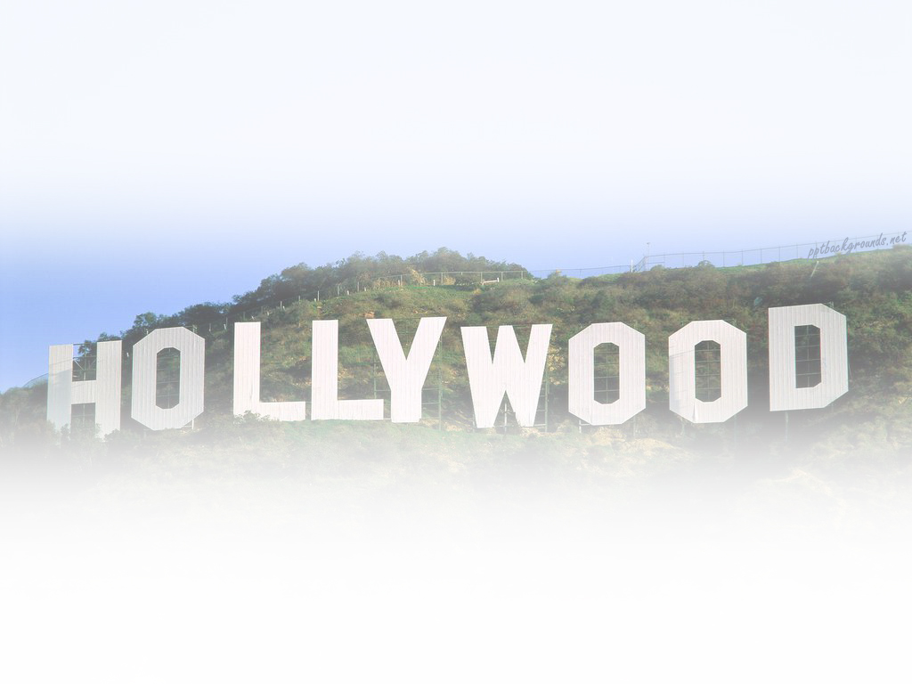 Free Hollywood Famous Backgrounds For PowerPoint - Culture PPT ...