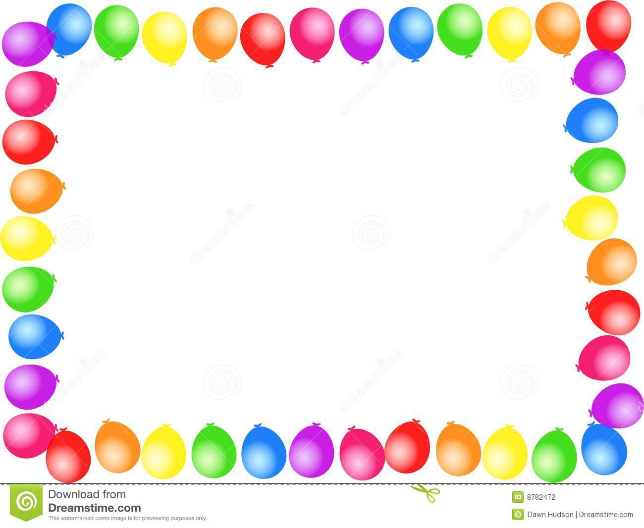 Balloon Border Stock Photography - Image: 8782472