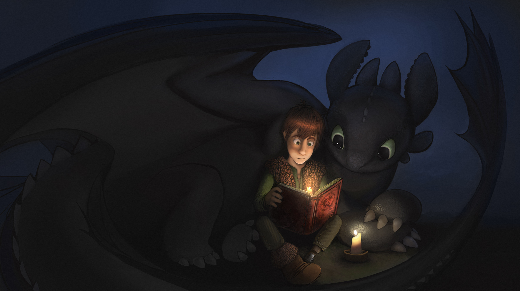 Train Your Dragon images Toothless and Hiccup read a book HD wallpaper ...
