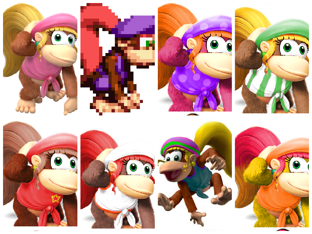 Suggestions of Dixie Kong alt costumes for Smash 4 by Shantae4Smash on ...