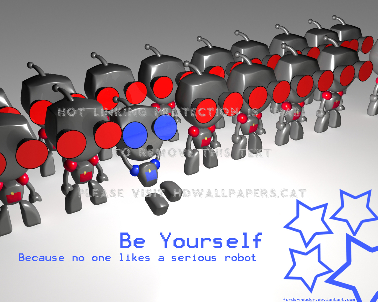 Be Yourself Gir Weird Red Funny Blue 3d And hd wallpaper #538419