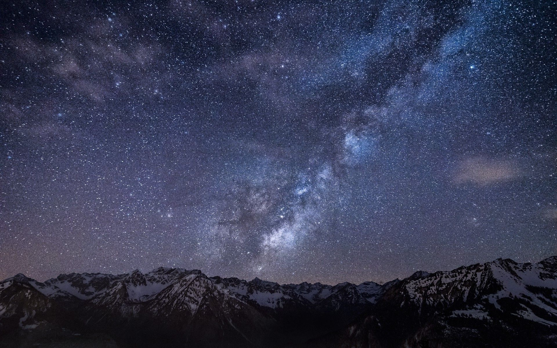 Starry sky above the mountains wallpaper, Starry sky above the ...