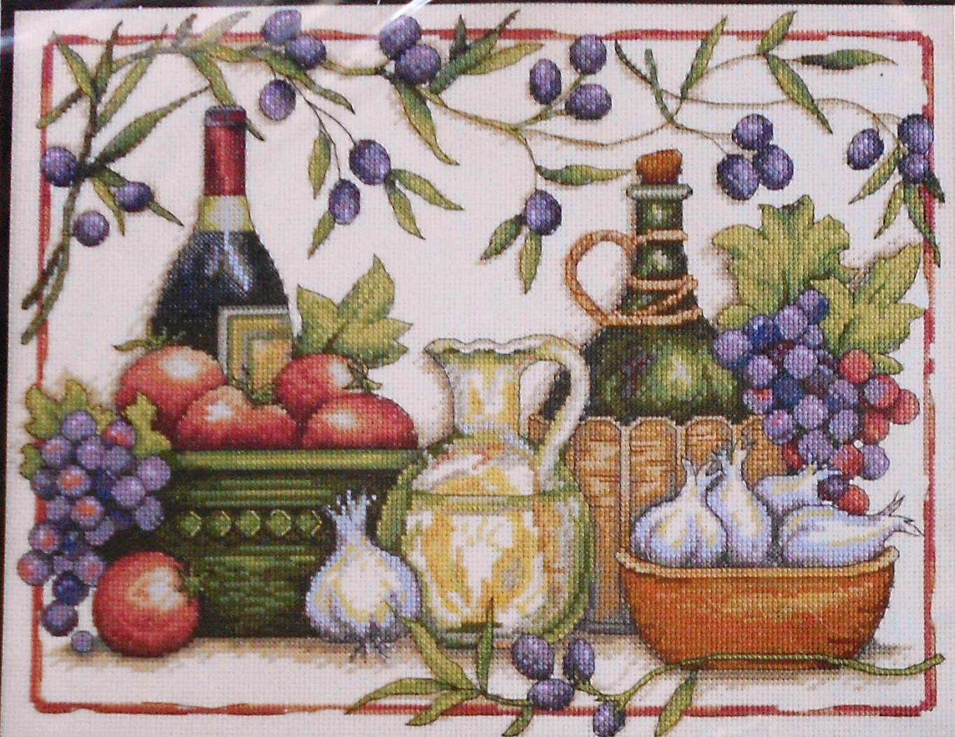 Dimensions TUSCAN FLAVORS Counted Cross Stitch Pattern Chart