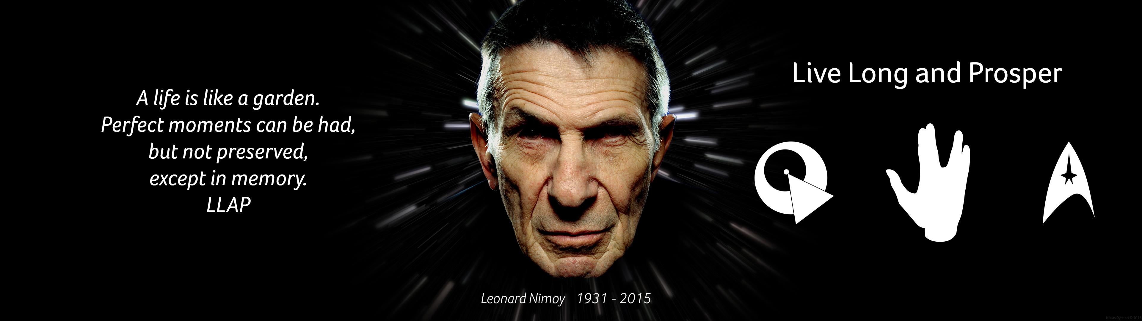 Leonard Nimoy tribute, dual screen [3840x1080] : StarTrekWallpaper