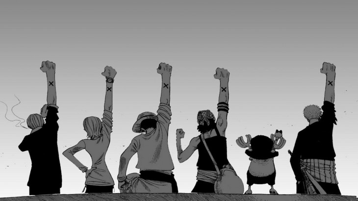 1366x768 , One Piece, Monochrome, Back, White Background, Arms Up, Monkey D ...