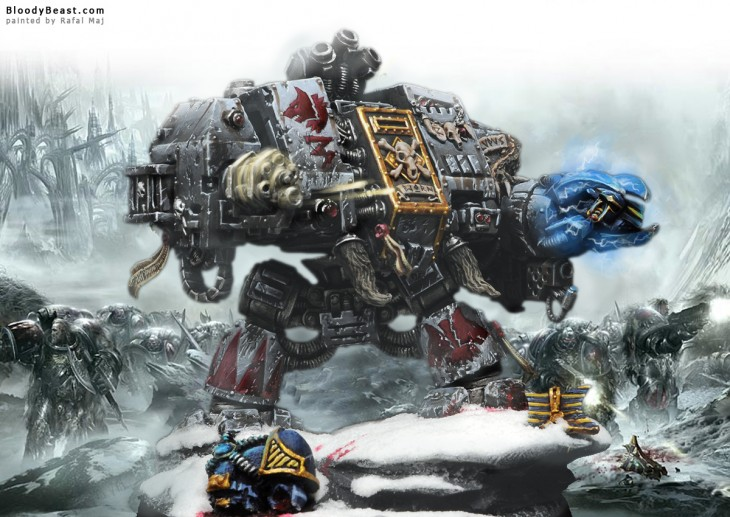 1200x850 Space Wolves Bjorn The Fell-Handed Scene painted by Rafal Maj ...