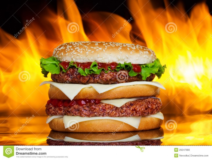 1300x986 burger over fire burger over fire on background burger over fire on ...