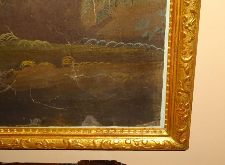 1280x940 19th Century Decorative Wallpaper Panel in Gilt Frame at 1stdibs