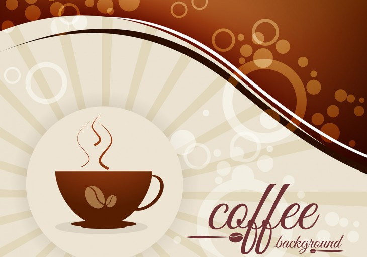 1400x980 Coffee Background with Beans and Cup Vector - Download Free Vector Art ...