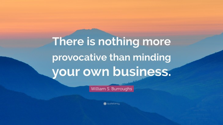 """3840x2160 William S. Burroughs Quote: """"There is nothing more provocative than ..."""