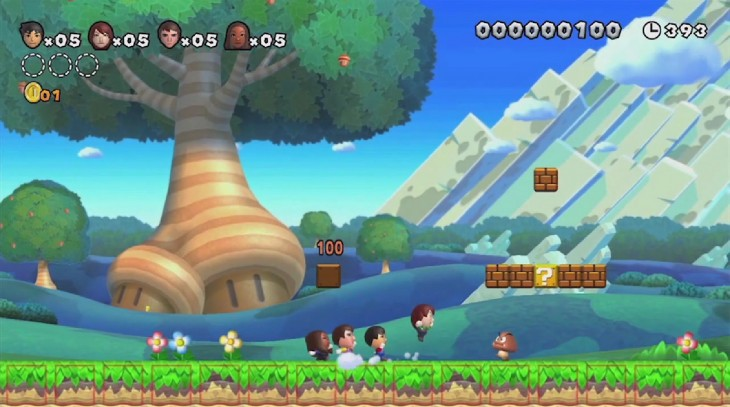 1680x938 New Super Mario Bros. U Screenshots of Gameplay, Small Yoshi, Miis ...