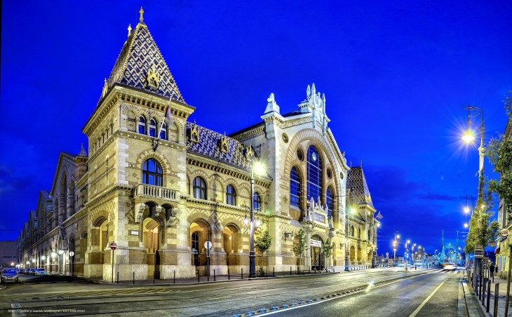 1600x992 Download wallpaper great market hall, budapest, hungary, magyarorsz ...