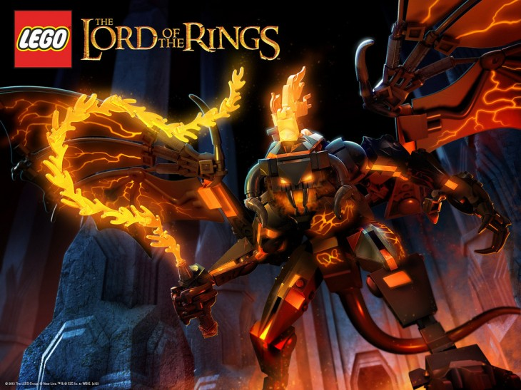 1024x768 Legózz! — LEGO Lord of the Rings Balrog Wallpaper (by...