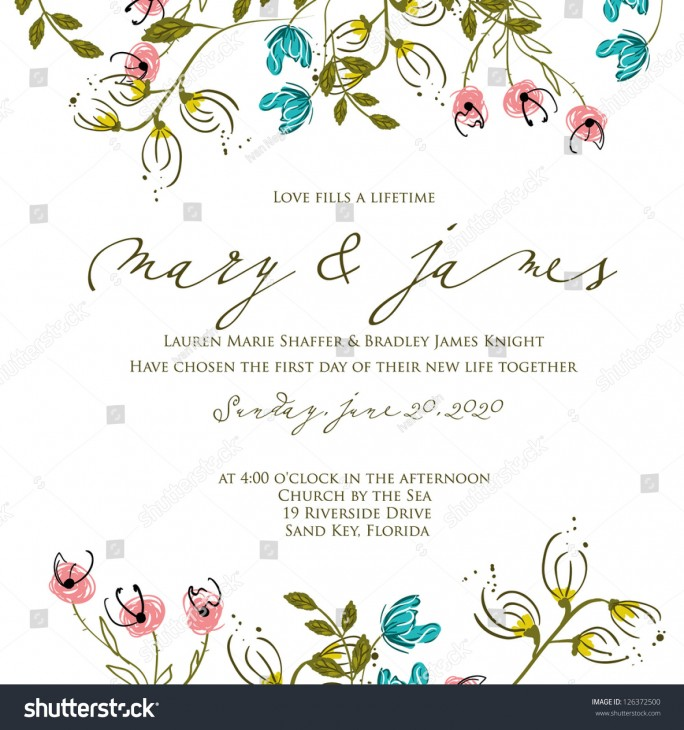 1500x1600 Invitation Wedding Card. Helping Hands Outtake Viridian Floral Wreath ...
