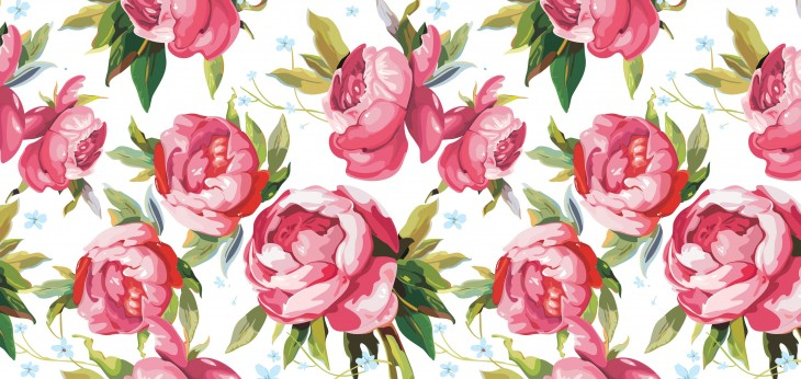 4000x1900 floral wallpapers vintage wallpapers vintage flowers pink flowers pink ...