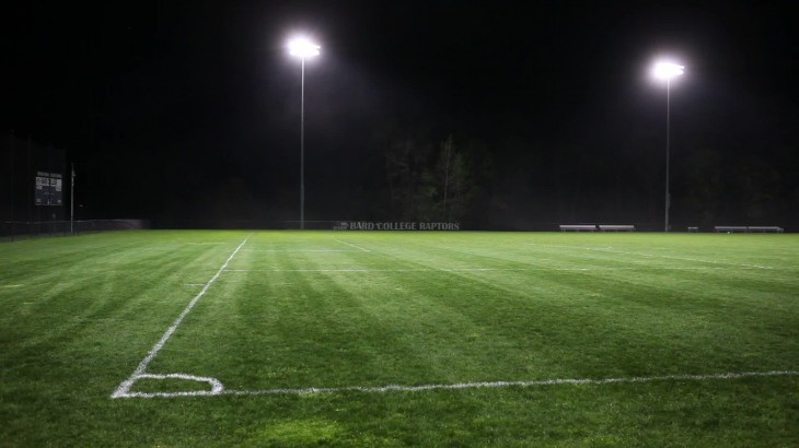 1920x1080 View of Soccer Football Field Pitch From Corner Stock Video ~ Video ...