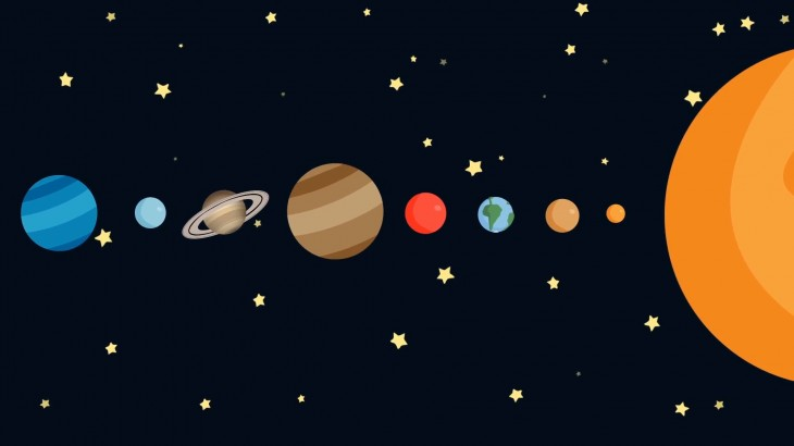 1920x1080 Cartoon Solar System By Order Motion Background - VideoBlocks